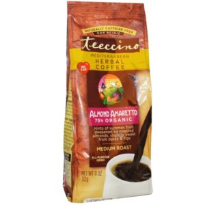 Teeccino Herbal Coffee Medium Roast Almond Amaretto 11oz