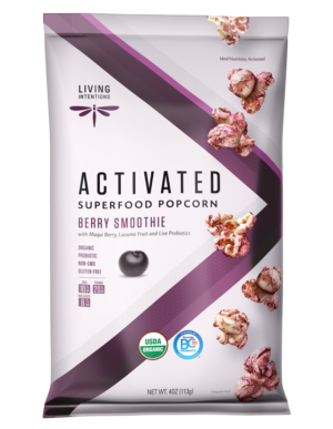 Living Intentions Berry Smoothie Activated Superfood Popcorn 4 oz