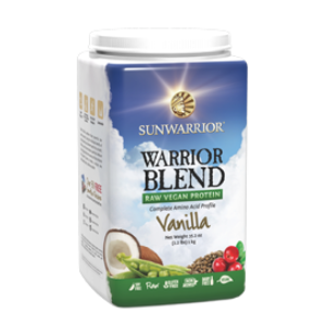 Sunwarrior Warrior Blend, Protein Powder, Vanilla