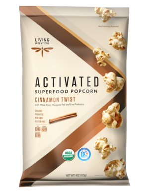 Living Intentions Cinnamon Twist Activated Superfood Popcorn 4 oz