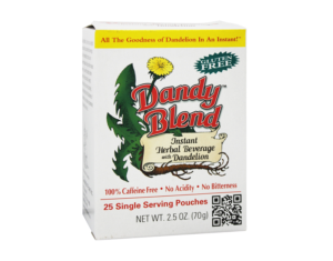 Dandy Blend Instant Herbal Beverage 2.5oz 25 Single Serving Pouches