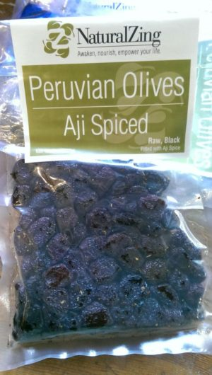 Dried Peruvian Olives Aji Spiced (Raw, Organic) 8oz - Natural Zing