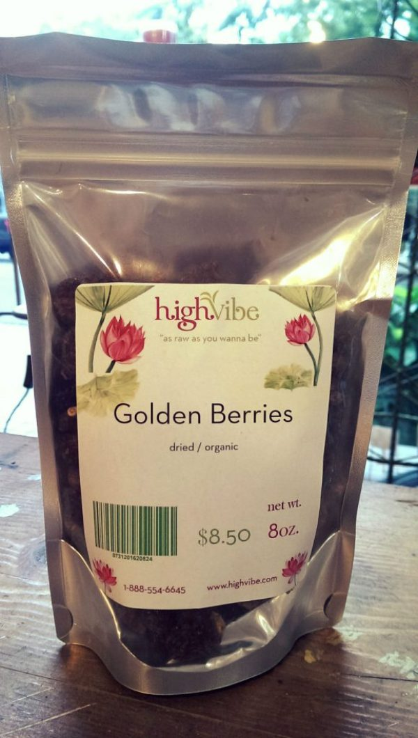 Golden Berries Dried / Organic High Vibe Bulk 8oz