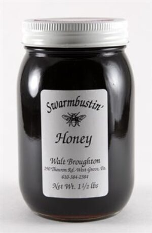 Buckwheat Pure Honey, by Swarmbustin' Honey 1.5 lbs.
