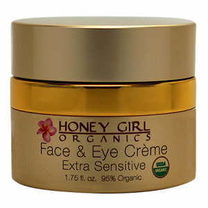 Honey Girl Organics Face & Eye Creme Extra Sensitive 1.75 floz