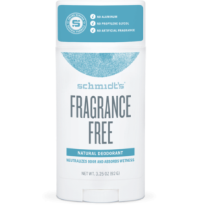 Schmidt's Natural Deodorant Stick Fragrance-Free 3.25 oz