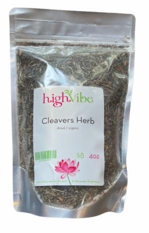 HighVibe- Cleavers Herb Dried / Organic - Bulk 4oz