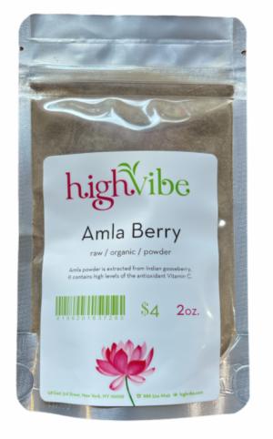 HighVibe- Amla Berry Powder Raw / Organic - Bulk 2oz