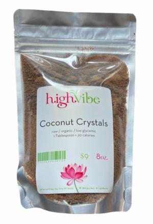 HighVibe - Coconut Crystals Raw / Organic / Low Glycemic -Bulk 8oz