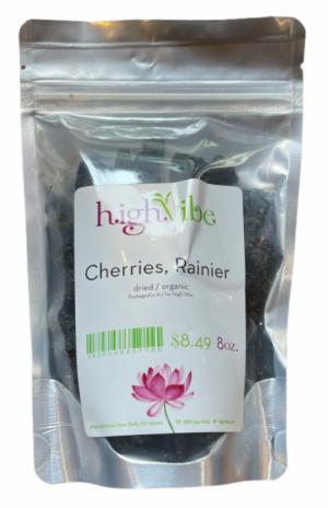 HighVibe- Rainier Cherries Dried / Organic - Bulk 8oz