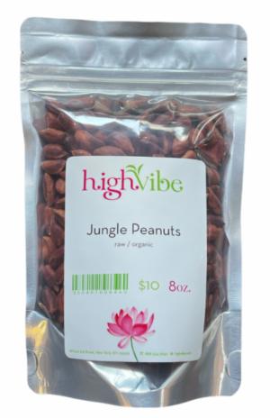 HighVibe- Wild Jungle Peanuts Raw / Organic- Bulk 8oz