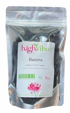 HighVibe- Raisins Dried / Organic - Bulk 8oz