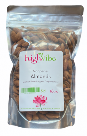 HighVibe- Almonds Nonpariel (raw, organic, unpasteurized)