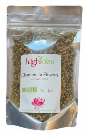 HighVibe- Chamomile Flowers Organic / Dried - Bulk 2oz