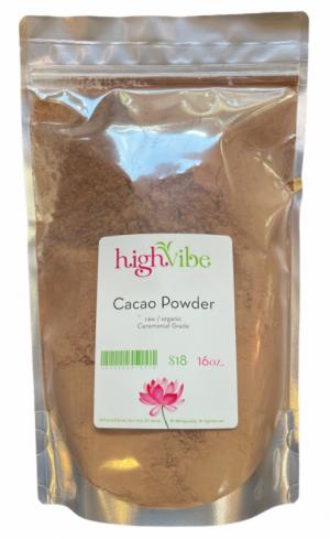 HighVibe- Organic Raw Cacao Powder