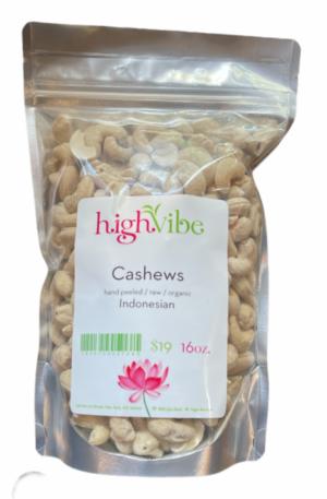 HighVibe- Cashews (raw, organic)