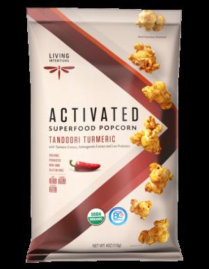 Living Intentions Tandoori Turmeric Activated Superfood Popcorn 4 oz
