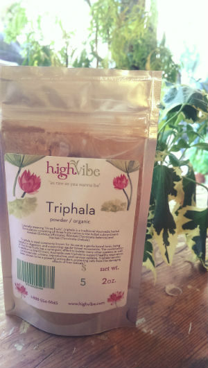 Triphala Powder / Organic / High Vibe Bulk 2oz