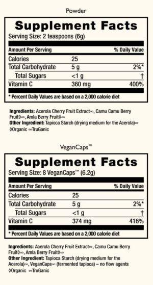 HealthForce Superfoods - Truly Natural Vitamin C, 400 Grams Powder