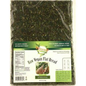 WrawP Raw Vegan Flat Bread, Spirulina
