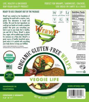 WrawP Raw Vegan Flatbread, Veggie Life