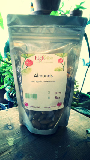 Almonds Nonpariel (raw, organic, unpasteurized)