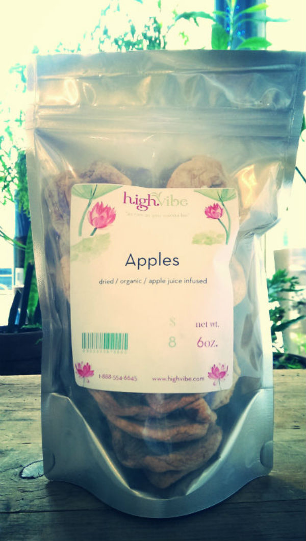 Apple Rings / Dried / Organic / Apple Juice Sweetened High Vibe Bulk 6oz