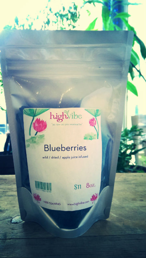 Blueberries Dried / Wild / Apple Juice Sweetened High Vibe Bulk 8oz
