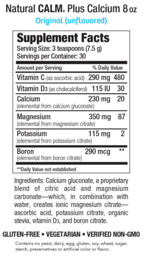Natural Calm plus Calcium 8 oz