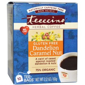 Teeccino Herbal Coffee Dandelion Caramel Nut 10 Tee / Tea Bags