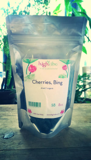 Bing Cherries Dried / Pesticide Free High Vibe Bulk 8oz