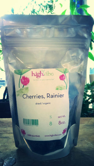 Rainier Cherries Dried / Organic High Vibe Bulk 8oz