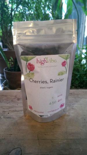 Rainier Cherries / Dried / Organic / High Vibe Bulk 4oz