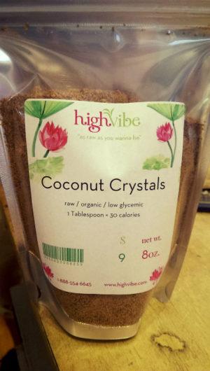 Coconut Crystals Raw / Organic / Low Glycemic / High Vibe Bulk 8oz