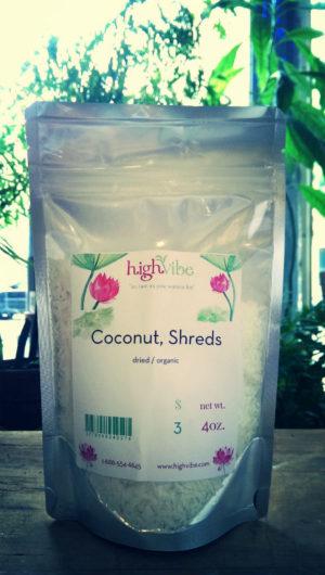 Coconut Shreds /Dried / Organic High Vibe Bulk 4oz