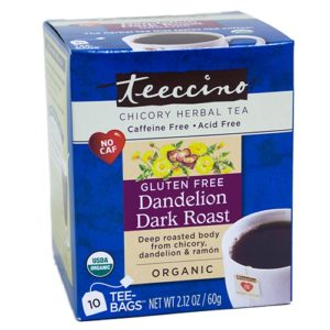 Teeccino Herbal Coffee Dandelion Dark Roast 10 Tee / Tea Bags