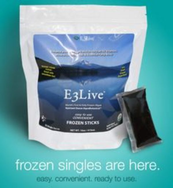 E3 Blue-Green Algae Frozen Sticks 16oz 32 Count