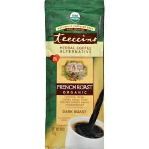 Teeccino Herbal Coffee French Roast Dark Roast 11oz