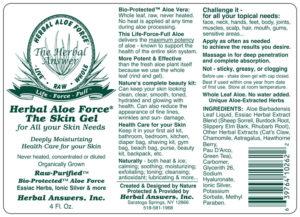 Aloe Force, Herbal, The Skin Gel