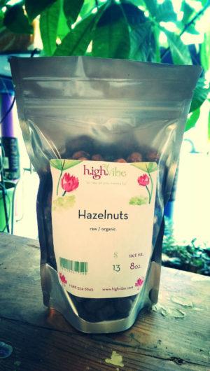 HighVibe- Hazelnuts (raw, organic) - 8 oz
