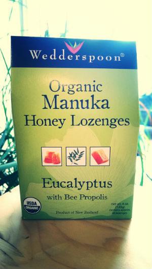 Organic Raw Manuka Honey Lozenges Eucalyptus With Propolis 4oz