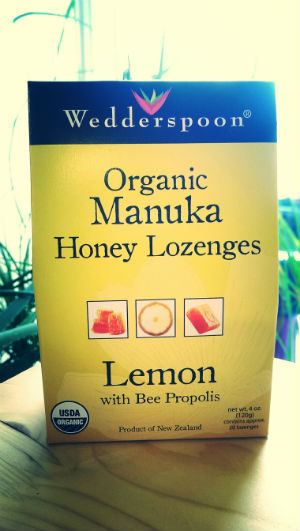 Organic Raw Manuka Honey Lozenges Lemon with Bee Propolis 4oz