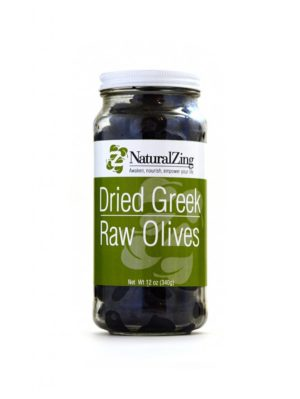 Greek Dried Olives (Raw, Sustainably-grown) 12 oz - Natural Zing