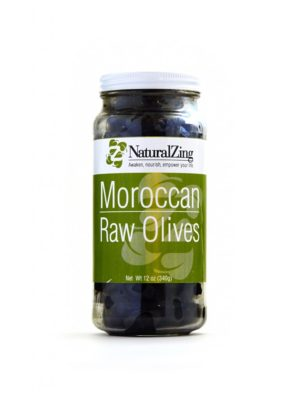 Dried Moroccan Olives Black (Raw, Sustainably-grown)12 oz - Natural Zing
