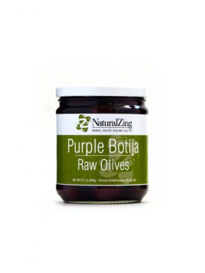 Organic Purple Botija Raw Olives 15.7oz jar - Natural Zing