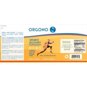 Orgono Silica Sports Recovery 33.85 floz