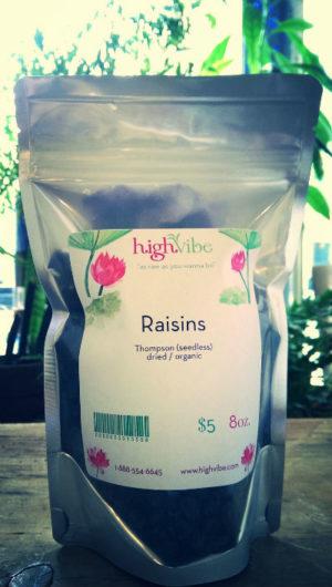 Raisins Dried / Organic High Vibe Bulk 8oz