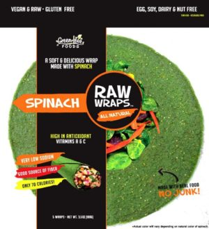 Green Leaf Foods Raw Wraps Spinach 5pcs