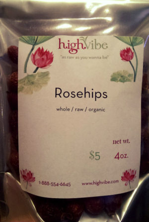 Rosehips 4oz whole / dried / raw / organic
