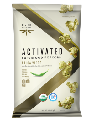 Living Intentions Salsa Verde Activated Superfood Popcorn 4 oz